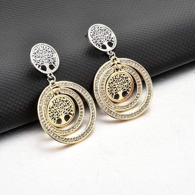 Фото женские серьги подвески с кристаллами chicvie круглые ювелирные цена