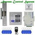 DIYSECUR Controll Remoto ID Card Reader Teclado de Contraseña Kit Sistema de Seguridad de Control de Acceso + Huelga Lock KD2000