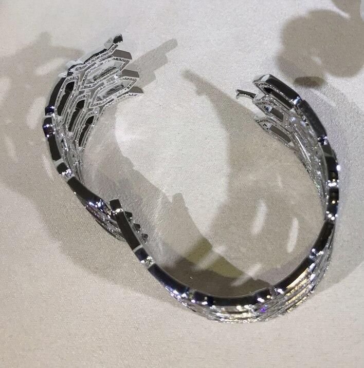 Brede band hoge kwaliteit zirconia Hollow animal bangle armbanden designer party sieraden voor vrouwen-in Armring van Sieraden & accessoires op  Groep 3
