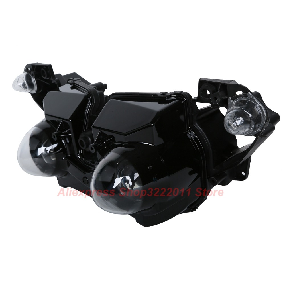 Clear Lens Motorcycle Plastic Front Light Lamp Case For Yamaha YZF-R1 YZF R1 2009 2010 2011 Headlight Housing Set motoo free shipping for yamaha yzf r1 r1 2007 2008 motorcycle front light headlight upper bracket pairing
