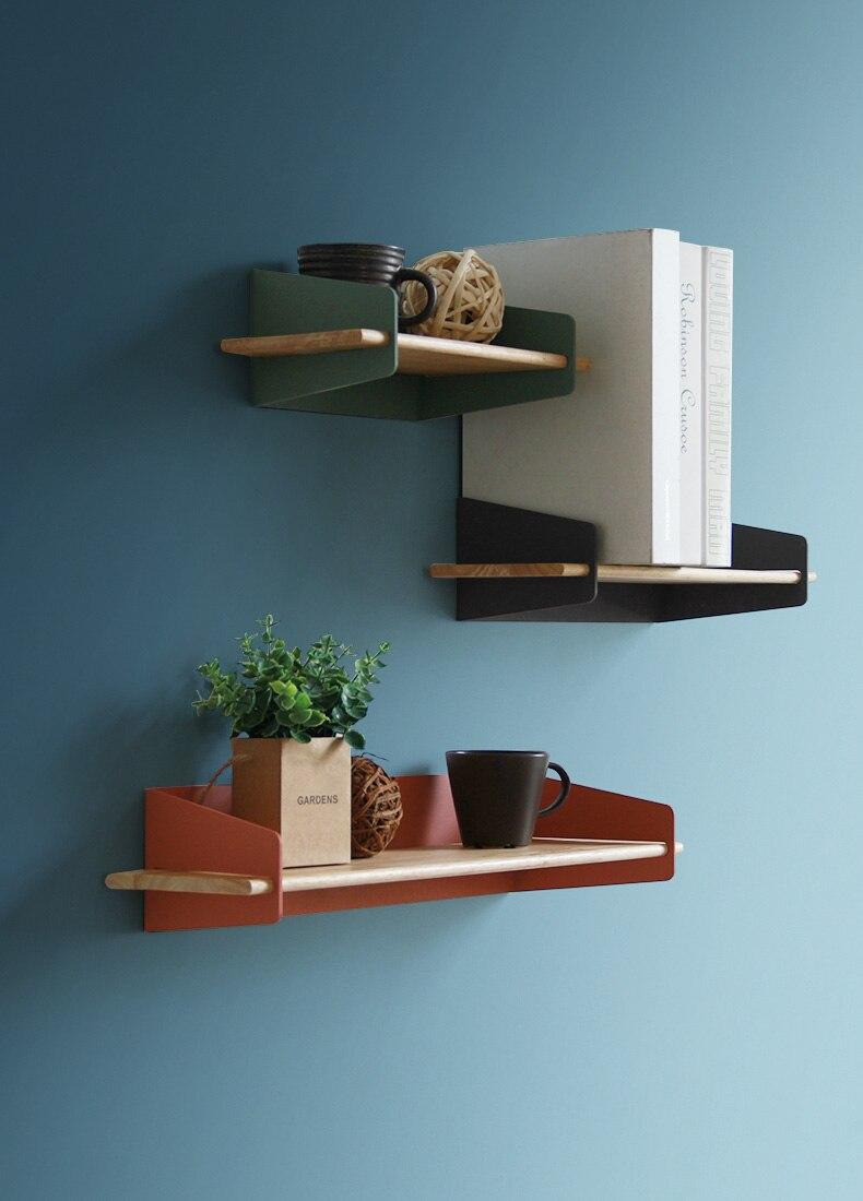 2019 Brief Wall Nordic Wall Decoration Magazine Storage Holders Racks wood Modern Design Hanger for corridor Rails bookrack