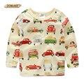 Camiseta de los muchachos 2017 Primavera ropa de Los Nuevos Niños Del Bebé de Tocar Fondo camisa de Marca Ropa de Los Muchachos Niño Niños Camisetas de Algodón de Carter Top