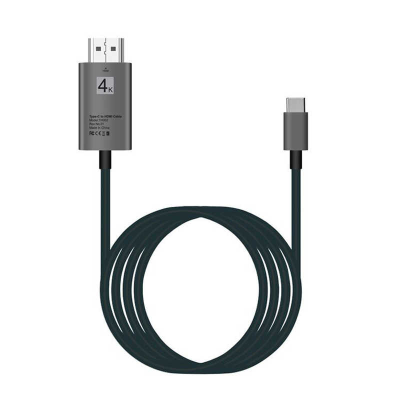 Кабель usb type C к HDMI 6 футов/2 м (совместим с Thunderbolt 3) с 2018 MacBook Pro/Air/iPad Pro, 2017 iMac, Dell XPS 13/15, samsung