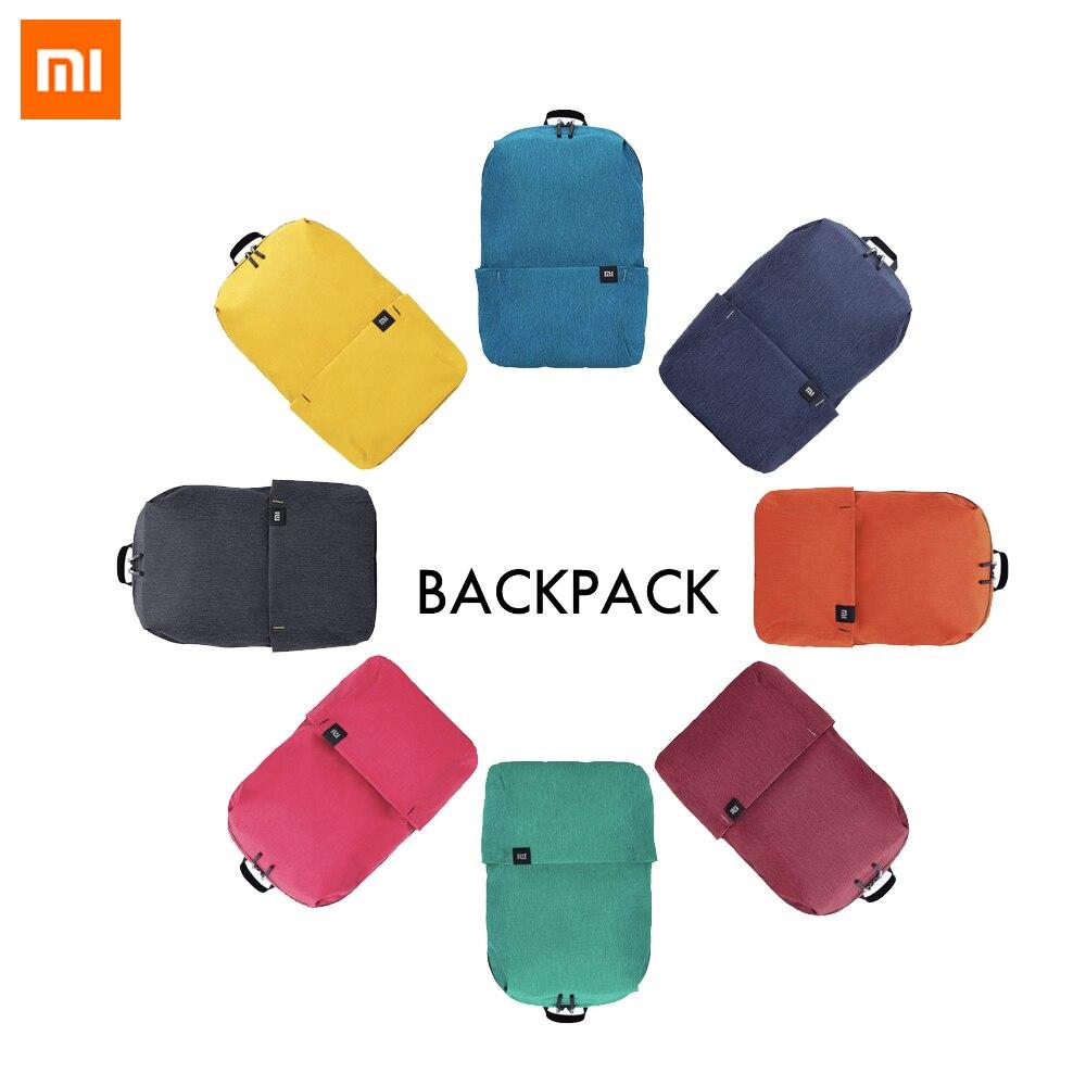 2018 nuevo Xiaomi colorido Mini mochila bolsa 8 colores Nivel 4 repelente al agua 10L capacidad 165g peso YKK Zip al aire libre vida inteligente