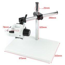 Grand support de Table de bras stéréo de Boom réglable résistant de grande taille 76mm porte-anneau pour la caméra de Microscope stéréo d'industrie de laboratoire