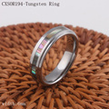 6mm Tungsten Ring High Quality Women Abalone Shell Inlay Band Rings Beveled Comfort Fit Design