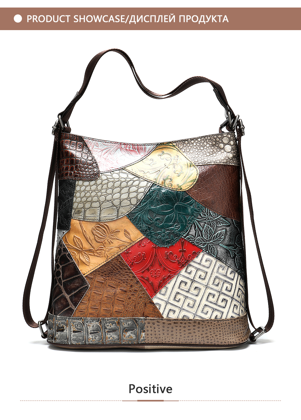 Women's Backpack Genuine Leather Bohemian Style
