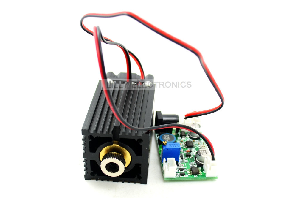 все цены на 450nm 2W focusable blue laser module 12V TTL + wood engraving+long time working онлайн