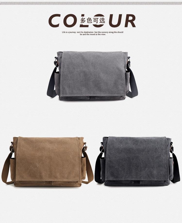HTB1dGmabsnrK1RjSspkq6yuvXXaR 2019 Brand Designer Men's Briefcase Canvas Crossbody Bags for men 14 Inch Laptop Shoulder Bags Buisness Office Men Messenger Bag