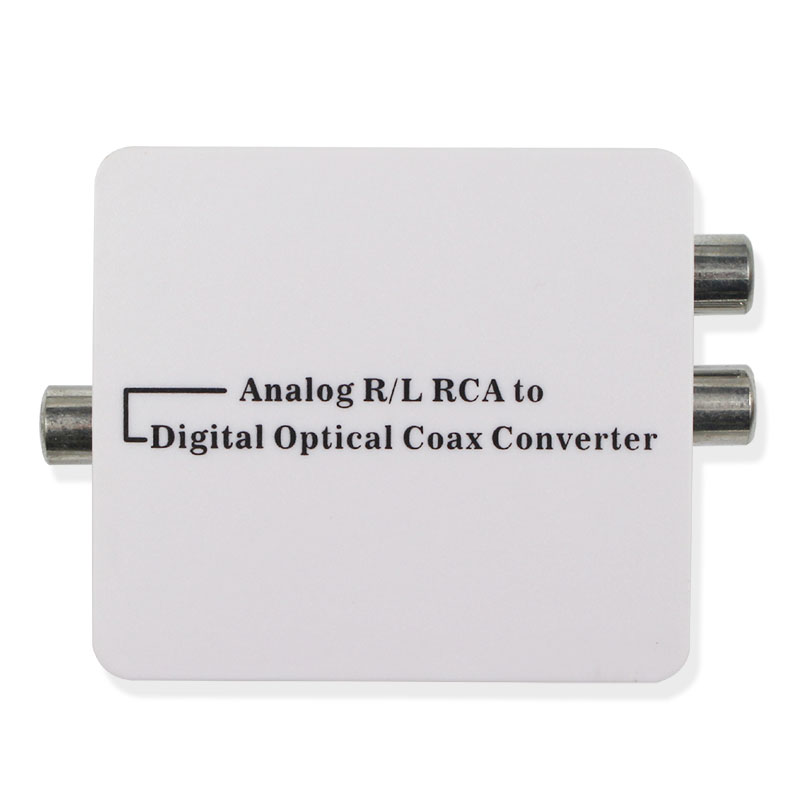 Analog R/L RCA to digital optical coaxial Converter A2D Optic Coaxial RCA Toslink Signal Audio Converter Adaptor digital optical coaxial toslink to analog rca l r audio digital converter adapter dc 5v 1a with usb cable high speed