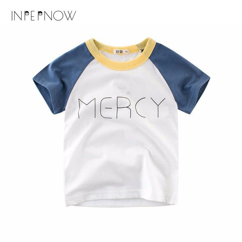 INPEPNOW 2018 Cotton Cartoon T-shirt Boys Children Cute Summer Tops T Shirt Short Sleeve Girls T-shirts 2 3 4 5 6 7 Y DX-CZX52