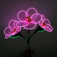 Popular Glittery Light Up Funky Graduation Flower Fluorescent Party Supplies Neon Led Strip Masque Prom Favors