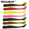 10Pcs/lot worm fishing soft bait 80mm 3g Jig Silicone Wobbers baits souple fish smell Iscas bass fishing tackle Shad Leurre