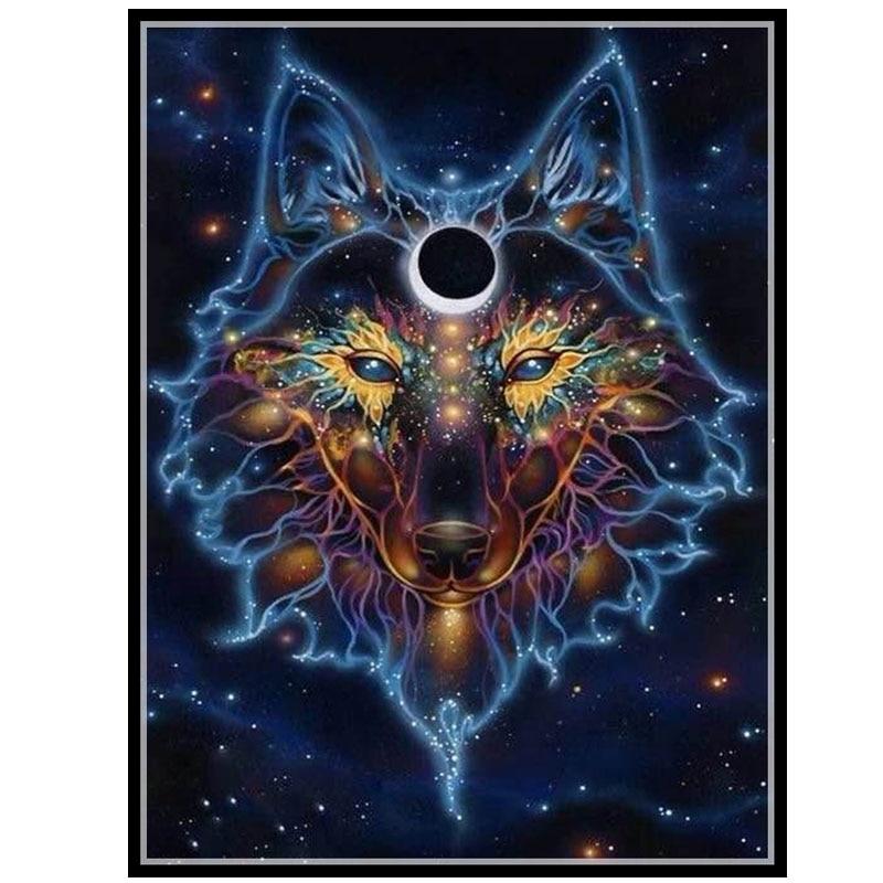 2017 рукоделие, DIY DMC 14CT Набор для вышивки крестиком, Fantasy Wolf домашнее искусство узор вышивка крестиком Картина домашний декор новый