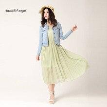 New Spring Summer 2017 Plus Size Vintage Cropped Denim Jacket Short Long-Sleeve Cardigan Coat Jeans Jacket Women