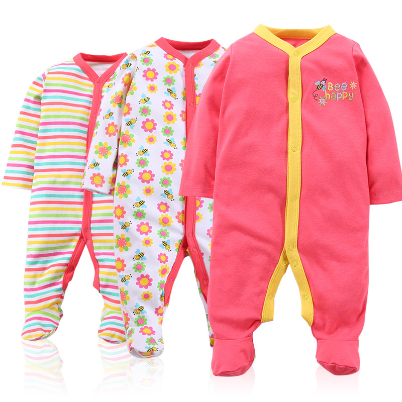 Baby girls clothes new stlye Baby Romper Cotton Newborn 3-12M Baby boys Jumpsuits 3pcs Long Sleeve Baby Clothing set cotton baby rompers set newborn clothes baby clothing boys girls cartoon jumpsuits long sleeve overalls coveralls autumn winter