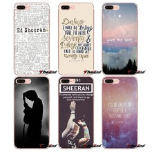 For iPhone X 4 4S 5 5S 5C SE 6 6S 7 8 Plus Samsung Galaxy J1 J3 J5 J7 A3 A5 2016 2017 Pop Singer Star Ed Sheeran Silicone Case(China)
