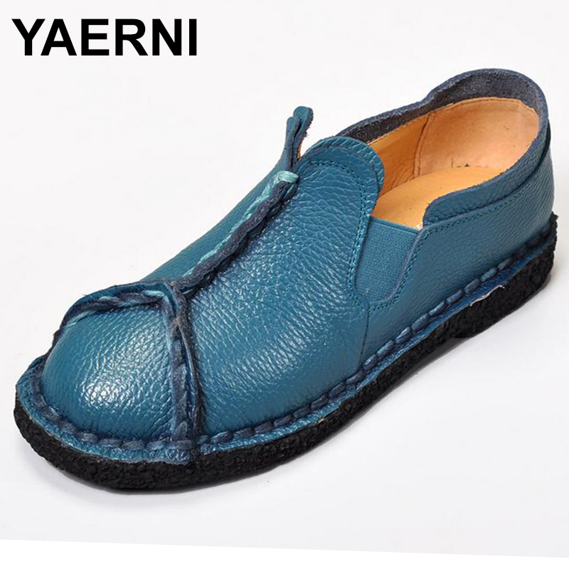 YAERNI women shoes leather Loafers mother casual fashion slip-on girls shoes breathable comfortable woman Dress Solid flats yeerfa fashion women loafers canvas shoes slipony oxford flats heels breathable slip on comfortable mix colors white black shoes