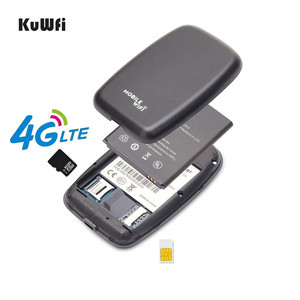 Image 4 - KuWFi Unlocked 4G LTE Wifi yönlendirici mobil taşınabilir 3G/4G Wifi yönlendirici SIM kartlı Router yuvası desteği LTE FDD B1/B3/B5