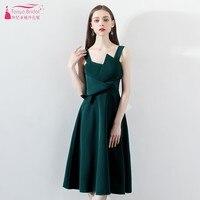 TNAYA Dark Green A Line Simple Homecoming Dress 2019 Real Dress Junior Elegant Party Dress Cocktail Gown DQG784