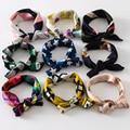 Mulheres moda Lenço de Seda Quadrado Pequeno Lenço Impresso Profissional Original Design Elegante Cachecóis Primavera Maré Coreano