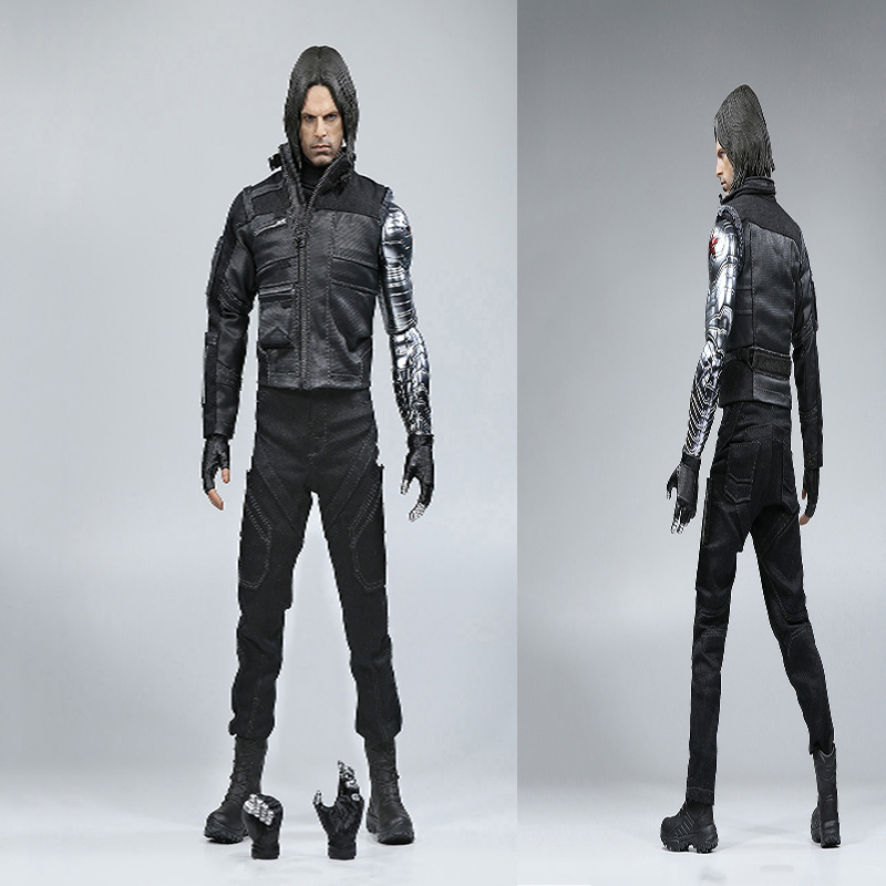 Collection 1/6 Scale Winter Soldier Bucky Barnes Captain American Civil War Action Figure Toys for Boys Kids Combat Suit Version the history of england volume 3 civil war