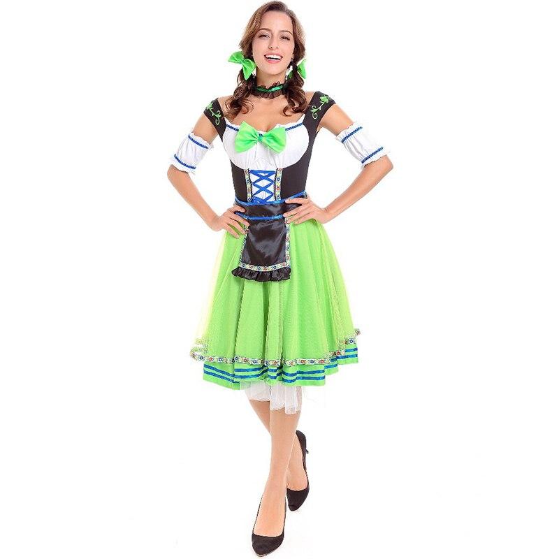 hijau halloween german beer maid costume dewasa fancy