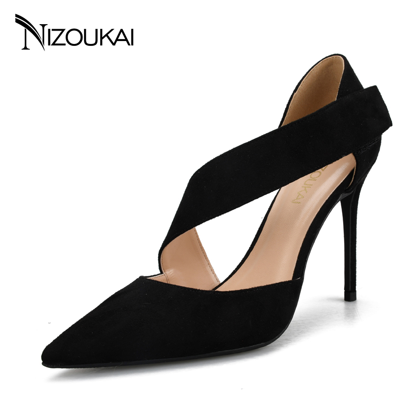Plus Size high heel Shoes Women Pumps 2017 Pointed Stiletto Shoes Woman High Heels Wedding Shoes zapatos mujer tacon ljx03-r idg brand women slip on high heels short rough with the fall and winter metal buckle rivets shoes woman zapatos mujer tacon