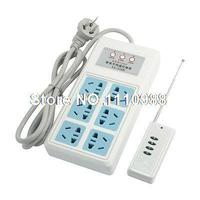 2200W AU Plug 3CH 6 Outlet Multi Type Sockets Remote Control Power Adapter