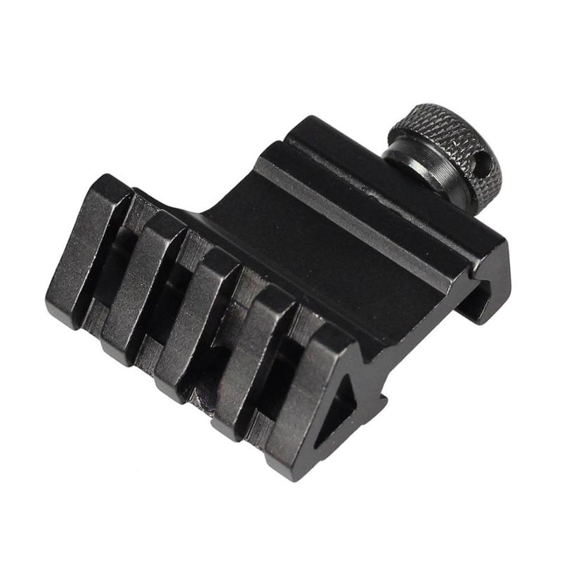 4 Slot 45 Degrees 20mm Rail Mount Quick Release Aluminum Alloy Picatinny Rail Base Adapter Hunting Rifle Scope Tools Accessories