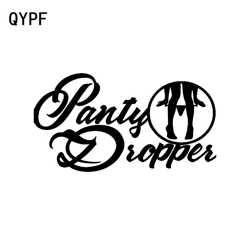QYPF 17CM*9.1CM Funny Panty Dropper Vinyl Car Sticker Decal Car Styling Accessories C15-2836