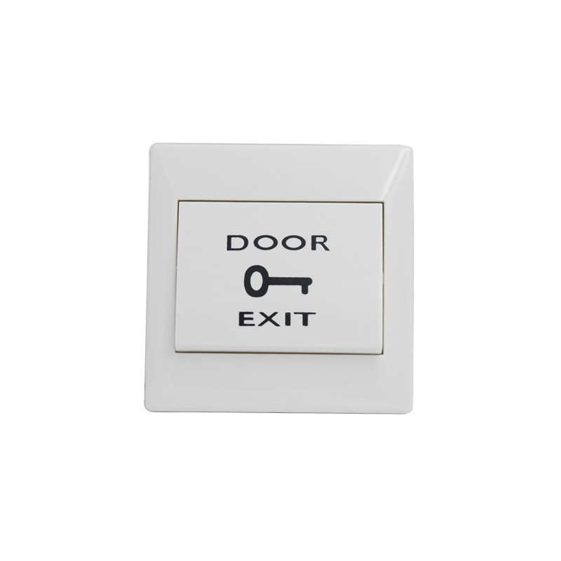 CIECOO White Plastic Push door Release exit Button Switch for Access Control Suitable for Hollow Door fireproofing plastic abs white push door release exit button switch for door lock access control system m6 model