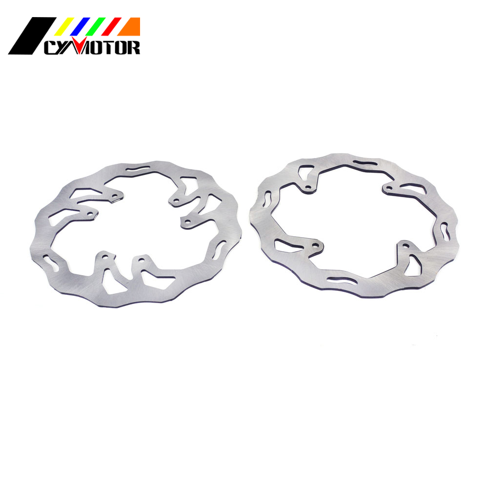 Motorcycle Steel Rear Front Brake Disc For HONDA CR 125 250 R E CRF230 CRF250X CRF250R CRF450R CRF450X CRF 250 450 R X 2002-2006 cnc for honda crf 250 450 r crf250x crf 450r 450x xr230 motard motorcycle brake clutch lever pivot lever crf450r crf250r crf450x
