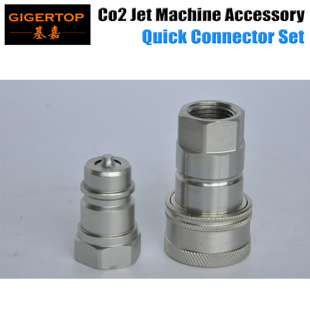 High Quality Co2 Jet Machine /Gas Hose Quick Connector Silver Color Male/Female Nozzle Pagoda Shape For Co2 Jet Blaster TIPTOP