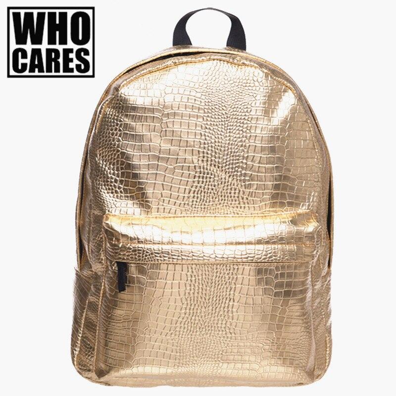 New Vogue Brand Crocodile Leather Children School Bags Women Bag Casual Mochila Escolar Man Travel Backpack Perfect Mochilas gl brand vogue 3colors jf0017