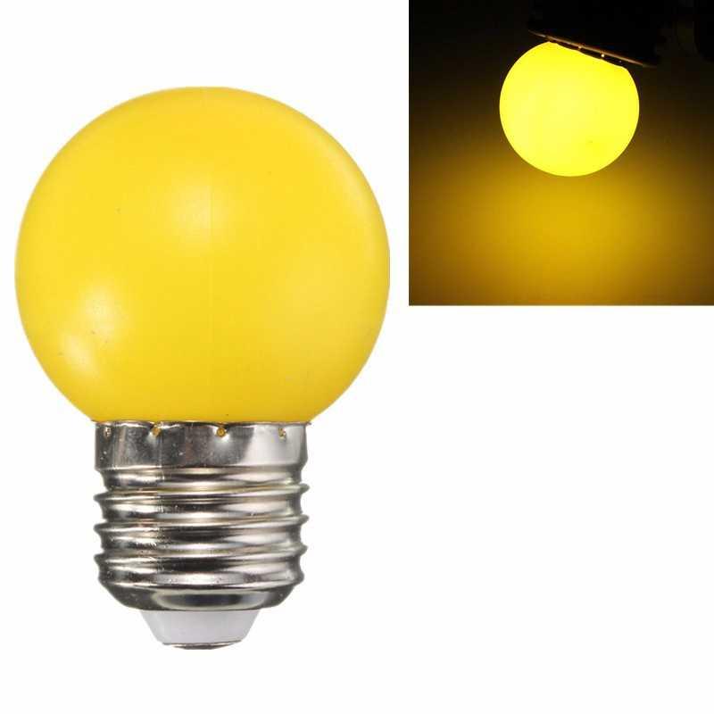 LED Light Bulb E27 1W 6 LED SMD Spotlight Holiday Home Decoration Lights Lamps Bulb White Red Yellow Blue Green 220V