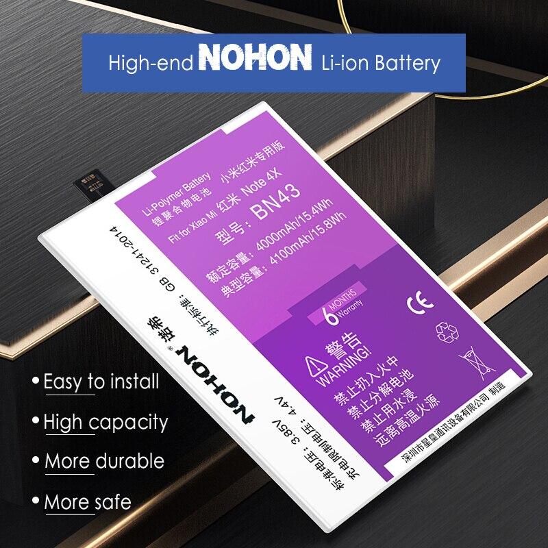 NOHON BN43 Batterie D'origine Pour Xiaomi Redmi Note 4X4X3 gb 4100 mah Bateria Remplacement Mobile Téléphone batteries Lithium-Polymère
