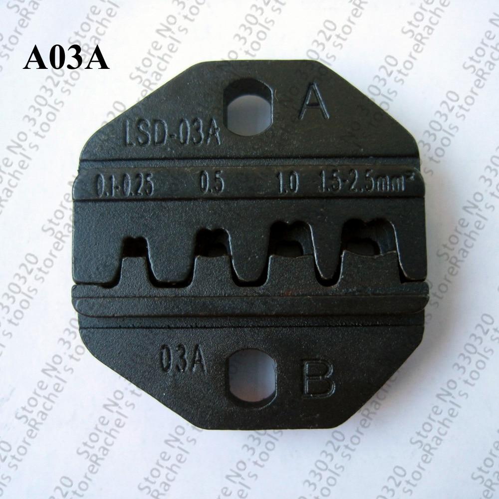 A03A Crimping Tool Dies For Open Barrel Terminals