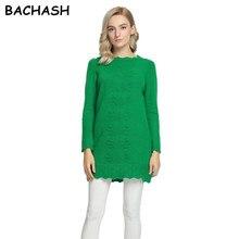 Bachash Лидер продаж Для женщин Мини Платья-свитеры Весной 2017 сексуальные тонкие Платья для женщин эластичные узкие Разделение платье короткий вязаный Пуловеры для женщин сплошной