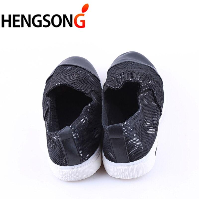 44 Patchwork Taille Nouveau Chaussures Respirant Mocassins Hengsong 39 Casual Hommes Plus Plat Maille Black sur Slip 2018 white Toile Printemps Rv919318 F14PxqZT