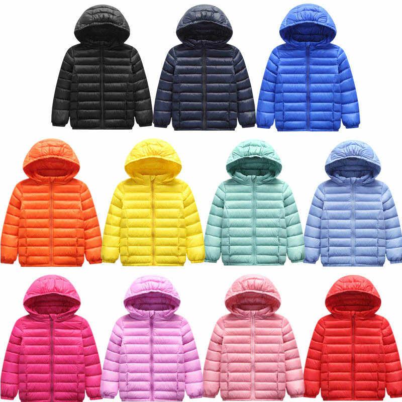 42ad4a58d Warm Autumn Winter Kids Boys Girls Jacket Outerwear Warm Hooded 90% White  Duck Down Jacket Children Cotton-Padded Jackets