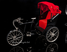diy miniature metal assembled  metal simulation Tricycle bike model doll toys for children kids birthday Christmas gift