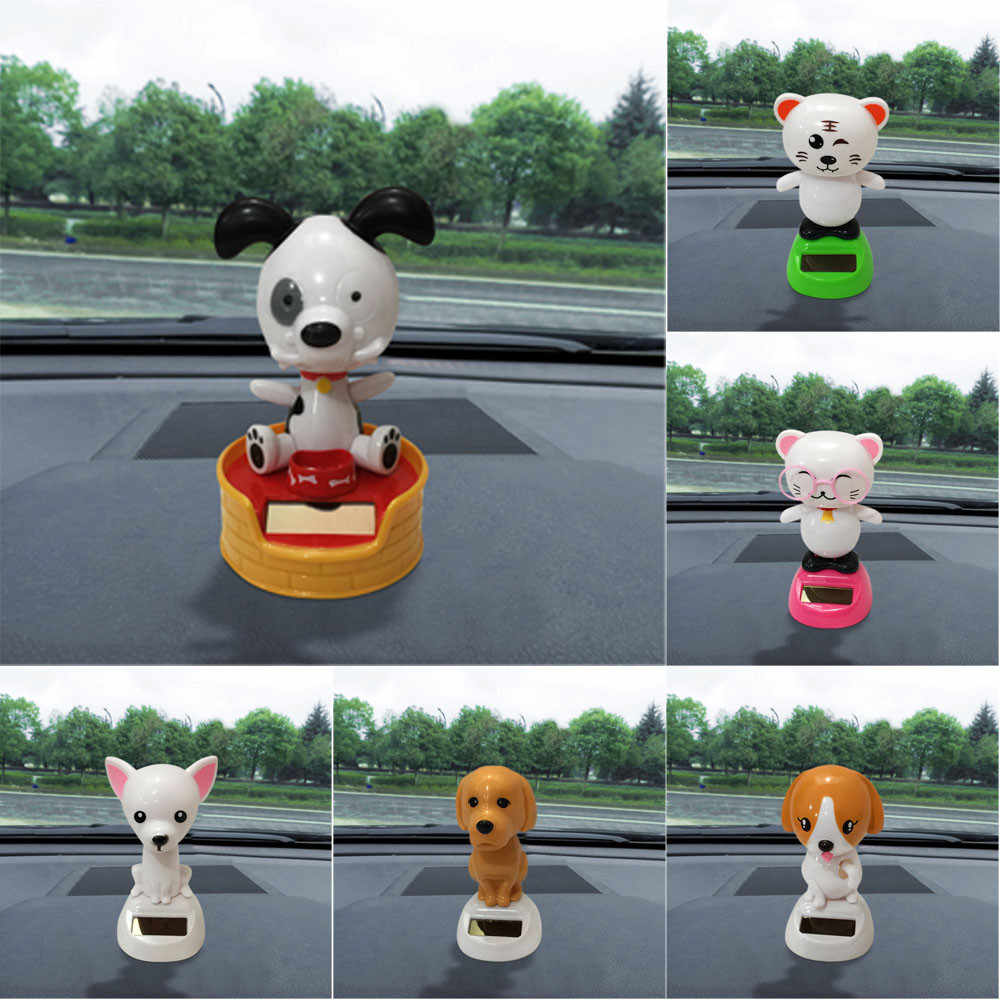 2019 NEW Solar Powered Dancing Animal Swinging Animated Bobble Dancer Toy Car Decor Dog Dropshipping Ornaments Interior