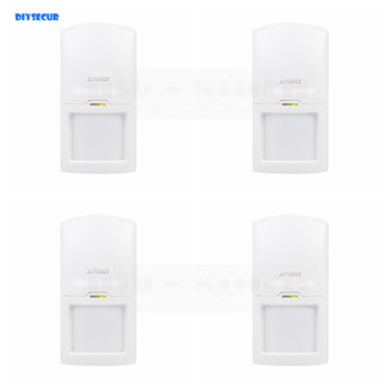 DIYSECUR 4pcs Wireless 433Mhz PIR Detector IR Motion Sensor for Our Related Home Alarm Home Security System