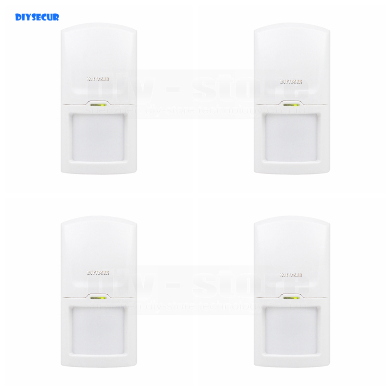 DIYSECUR 4pcs Wireless 433Mhz PIR Detector IR Motion Sensor for Our Related Home font b Alarm