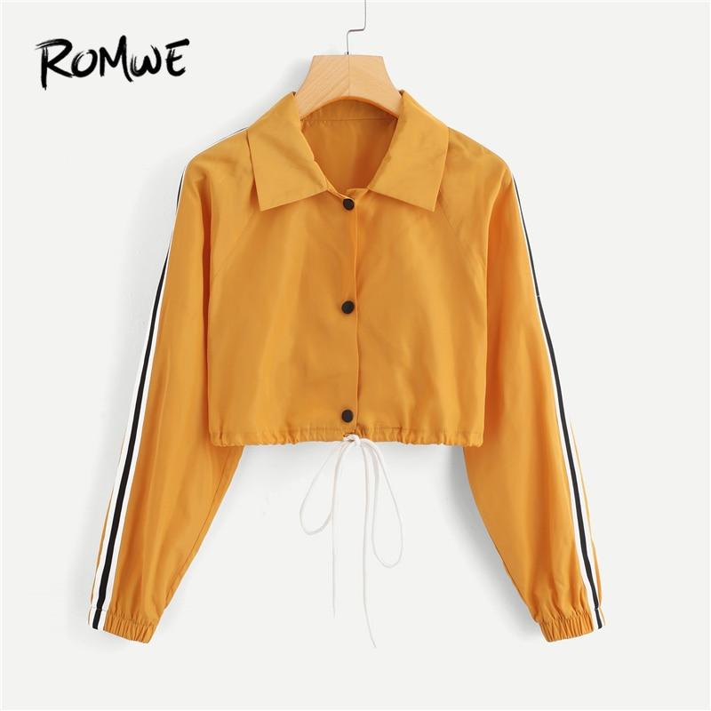 ROMWE Womens Plus Single Breasted Corduroy Jacket