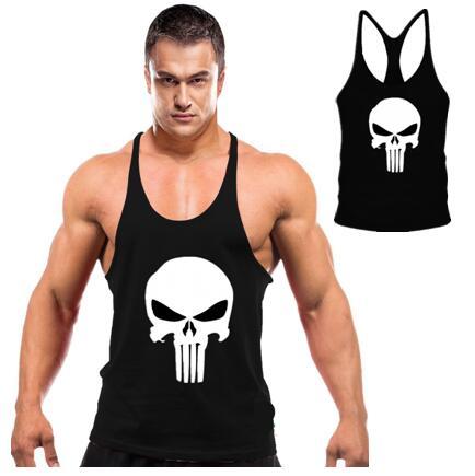 a61366ad82cbd Bodybuilding gym clothing Gym Stringers Singlet Fitness GymShark tank tops  men Sleeveless shirt Cotton Sport o-neck gym wear