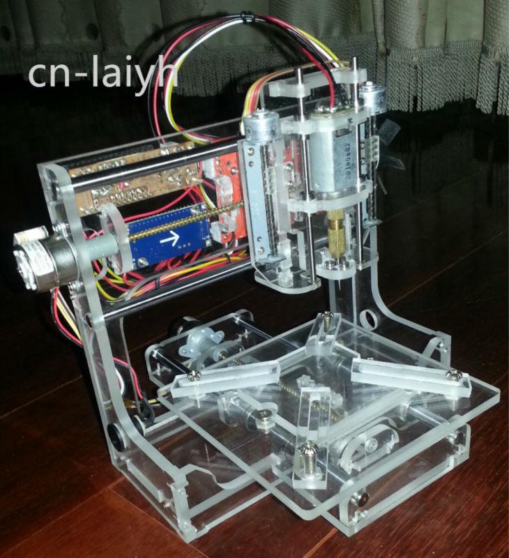 Diy Micro 3 Axis Engraving Machine Cnc Engraving Machine Mini Arduinogrbl A4988 Three Axis Stepper Motor Miniature Gcode