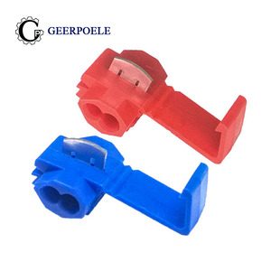 10 pcs/lot Lossless Joint Red Blue Quick Connection Clip Crimping Tool Electric Crimp Terminal Cable lip Wire Terminals