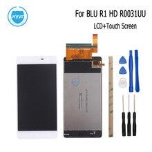 BLU R1 HD R0031UU R0011UU LCD 디스플레이 및 터치 스크린 용 새로운 테스트 된 좋은 스크린 디지타이저 어셈블리 교체 + 도구